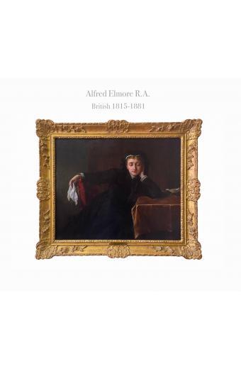 Alfred Elmore (British, 1815-1881) Contemplation