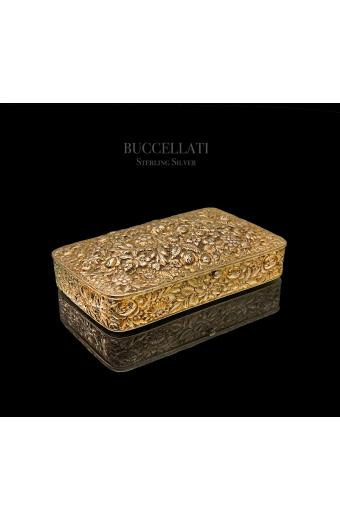 Sterling Gilt Silver Vermeil Hand Hammer Hand Chiseled Box by Buccellati
