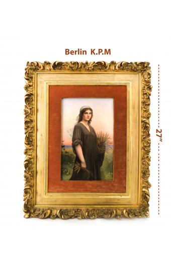 A Large Berlin KPM Porcelain Plaque Of Ruth Signed R Dittrich