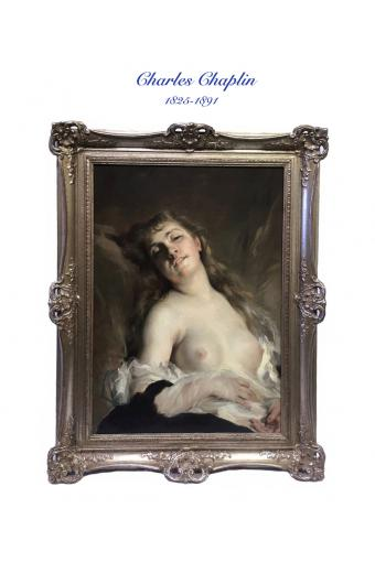 19th C. French Oil on Canvas By Charles Chaplin (1825-1891)