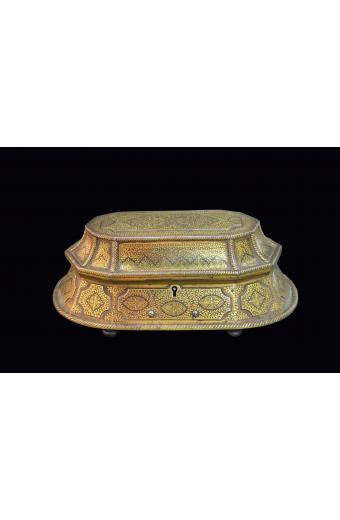 Museum Quality Indian Gold Inlaid Steel Box