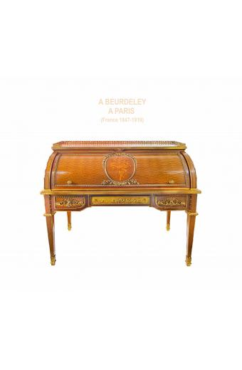 Mid 19th Century French Ormolu-Mounted Rolltop Desk