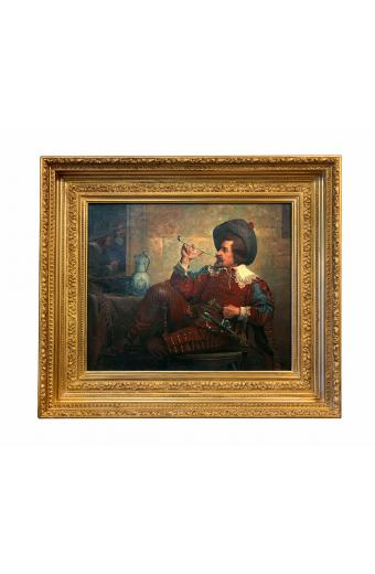 19th C. French Oil On Canvas Framed Painting By G. Georges