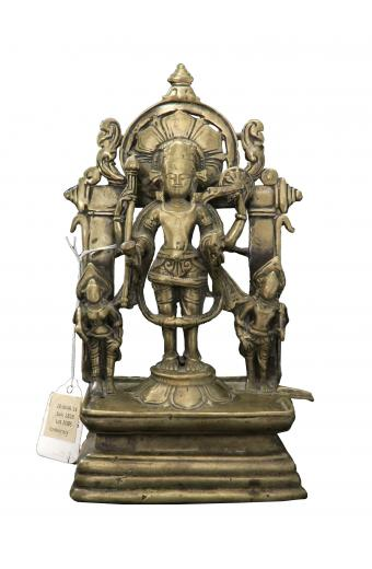 A Brass Alter Of Vishnu Circa 12th Century